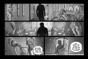 vic short page 1 letteredB&W